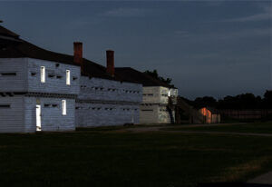 Fort George at night - The Barracks