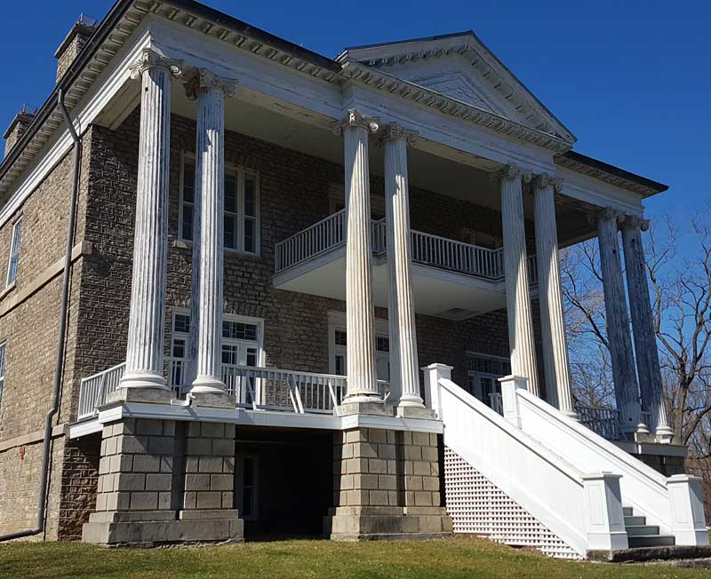 Willowbank Mansion - Location of Hamilton Family Cemetery