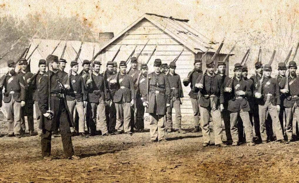 Camp Bartley Civil War historic photo